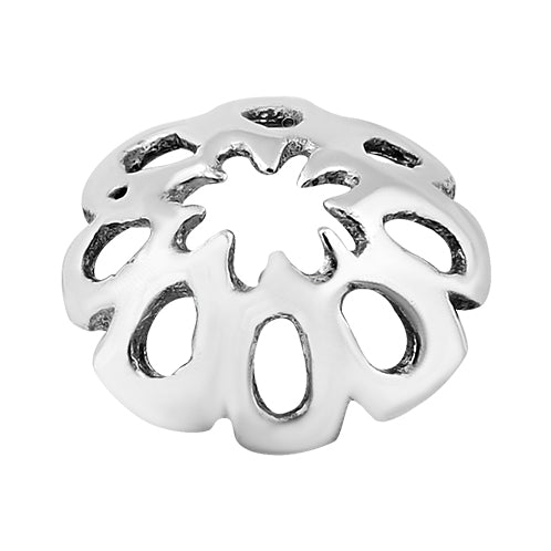 Sterling Silver Fancy Bead Cap 9mm - Pack of 2