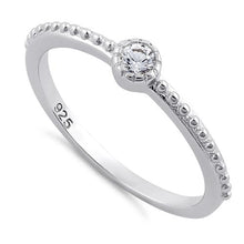 Load image into Gallery viewer, Sterling Silver Fancy Round Cut Clear CZ Ring