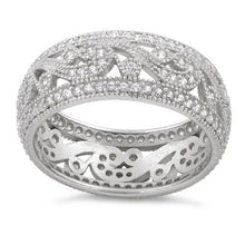Load image into Gallery viewer, Sterling Silver Filigree CZ Ring