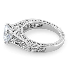 Load image into Gallery viewer, Sterling Silver Filigree Round CZ Ring