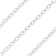 Load image into Gallery viewer, Sterling Silver Flat Cable Chain 1.5mm (sold by the foot)
