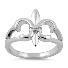 Load image into Gallery viewer, Sterling Silver Fleur de Lis Ring