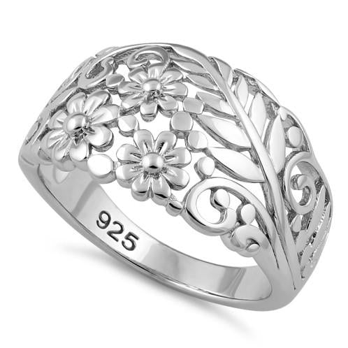 Sterling Silver Floral Arrangement Ring