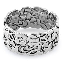 Load image into Gallery viewer, Sterling Silver Floral Band Ring