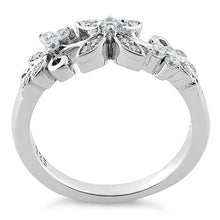 Load image into Gallery viewer, Sterling Silver Flower Clear CZ Ring