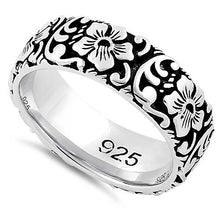 Load image into Gallery viewer, Sterling Silver Flower Garden Eternity Band