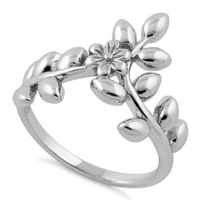 Load image into Gallery viewer, Sterling Silver Flower Leaves Ring