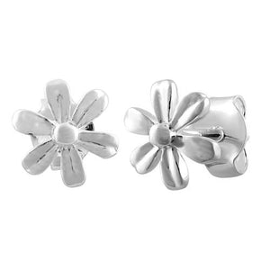 Sterling Silver Flower Petal Earrings