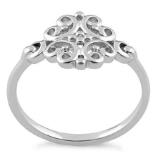 Load image into Gallery viewer, Sterling Silver Flower Ring