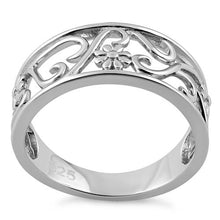 Load image into Gallery viewer, Sterling Silver Flower Vines Ring