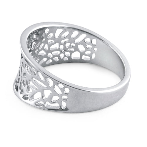 Sterling Silver Flowers Ring