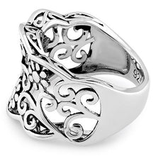 Load image into Gallery viewer, Sterling Silver Flowers Ring