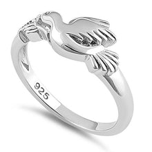 Load image into Gallery viewer, Sterling Silver Flying Dove Ring