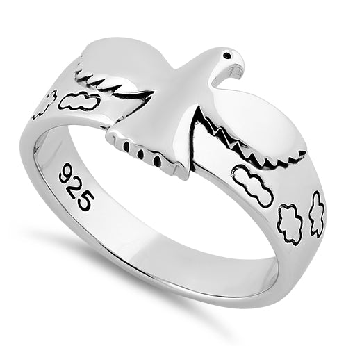 Sterling Silver Flying Dove Ring