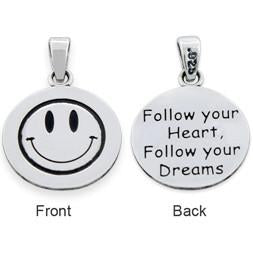 "Sterling Silver ""Follow your Heart, Follow your Dreams"" Pendant"
