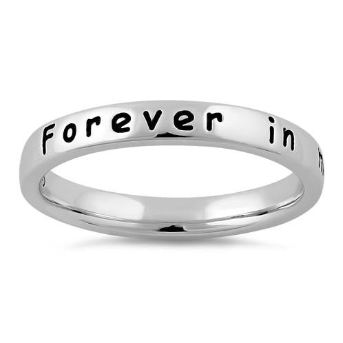 "Sterling Silver ""Forever in my heart"" Ring"