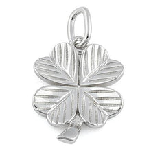 Load image into Gallery viewer, Sterling Silver Four Leaf Clover Charm Pendant