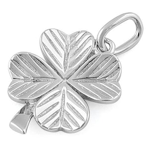 Sterling Silver Four Leaf Clover Charm Pendant