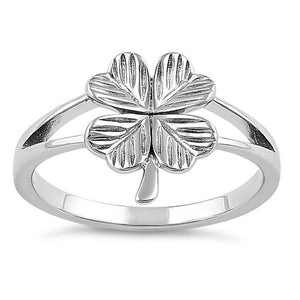 Sterling Silver Four-Leaf Clover Ring