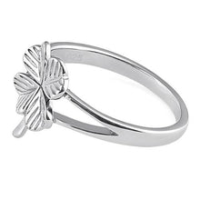 Load image into Gallery viewer, Sterling Silver Four-Leaf Clover Ring