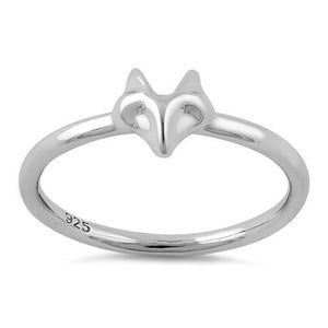 Sterling Silver Fox Ring