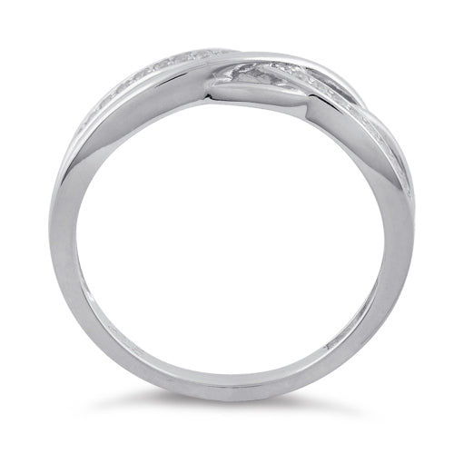Sterling Silver Free Form CZ Ring