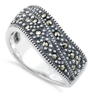 Sterling Silver Freeform Marcasite Ring