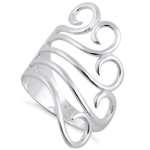Sterling Silver Freeform Swirl Ring