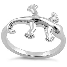Load image into Gallery viewer, Sterling Silver Gecko Ring