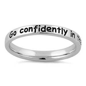 "Sterling Silver ""Go confidently in the direction of your dreams"" Ring"