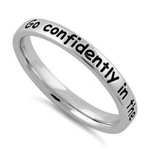 "Load image into Gallery viewer, Sterling Silver ""Go confidently in the direction of your dreams"" Ring"