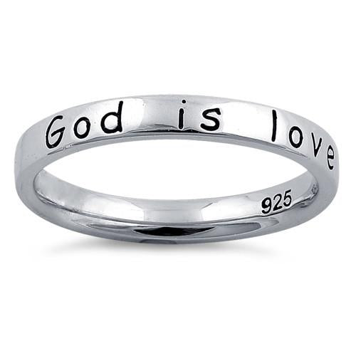 "Sterling Silver ""God Is Love"" Ring"
