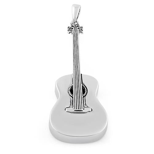 Sterling Silver Guitar Pendant