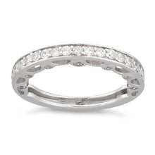 Load image into Gallery viewer, Sterling Silver Half Eternity Clear CZ Ring