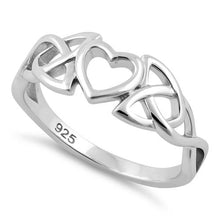 Load image into Gallery viewer, Sterling Silver Heart Celtic Ring