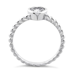 Sterling Silver Heart Clear CZ Ring