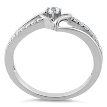 Load image into Gallery viewer, Sterling Silver Heart CZ Ring