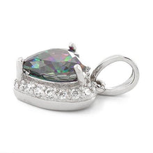 Load image into Gallery viewer, Sterling Silver Heart Shape Rainbow Topaz CZ Pendant