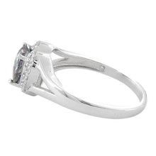 Load image into Gallery viewer, Sterling Silver Heart Shape Rainbow Topaz CZ Ring