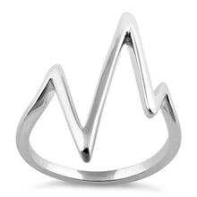 Load image into Gallery viewer, Sterling Silver Heartbeat Ring