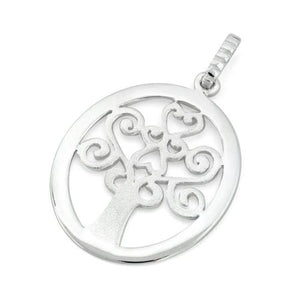 Sterling Silver Hearts Tree Pendant