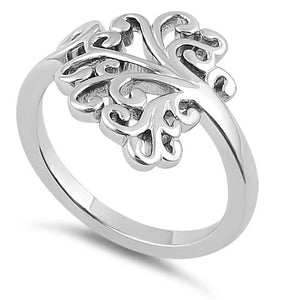 Sterling Silver Hidden Hearts Tree of Life Ring