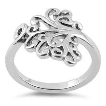 Load image into Gallery viewer, Sterling Silver Hidden Hearts Tree of Life Ring