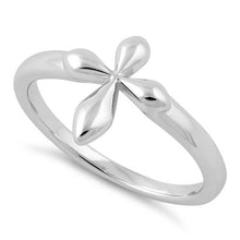 Load image into Gallery viewer, Sterling Silver High Polish Cross Ring