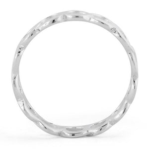 Sterling Silver Hollow Bubble Eternity Ring