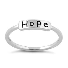 "Load image into Gallery viewer, Sterling Silver ""Hope"" Ring"