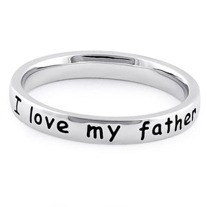 "Sterling Silver ""I love my father"" Ring"