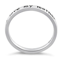 "Load image into Gallery viewer, Sterling Silver ""I love my mother"" Ring"