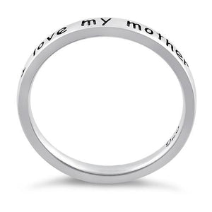 "Sterling Silver ""I love my mother"" Ring"