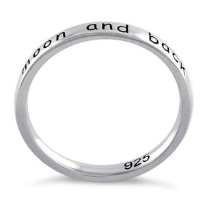 "Sterling Silver ""I Love You to the Moon and Back"" Ring"